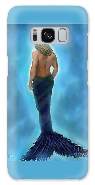 Galaxy Case featuring the painting Merman Majestic by Leslie Allen