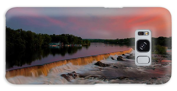 Merrimack River Falls Galaxy Case