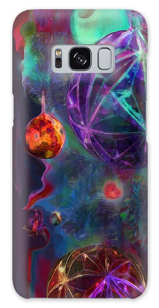 Merry And Bright Holidays Galaxy Case