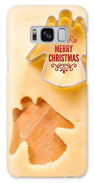 Holiday Galaxy Case - Merry Christmas Angel Cookie Cutter by Matthias Hauser