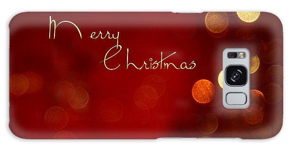 Merry Christmas Card - Bokeh Galaxy Case
