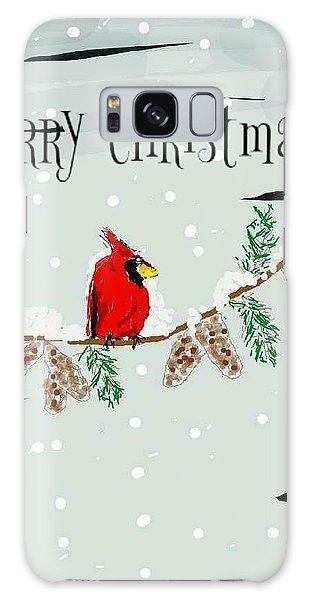 Merry Christmas Cardinal Galaxy Case