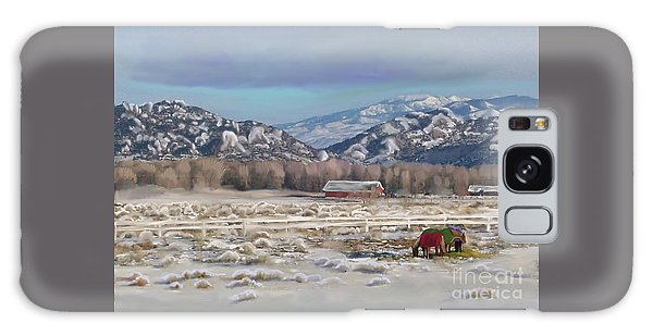 Merry Christmas From Wyoming Galaxy Case by Dawn Senior-Trask