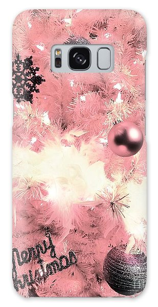 Merry Christmas In Pink Galaxy Case