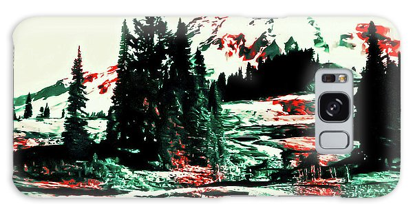 Merry Christmas Mount Rainier Galaxy Case