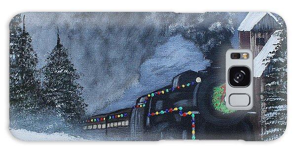 Merry Christmas Train Galaxy Case