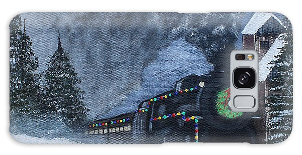 Merry Christmas Train Galaxy Case