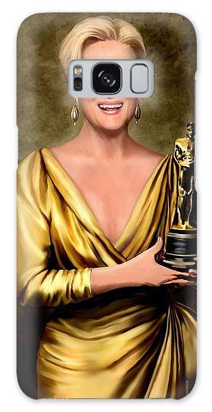Meryl Streep Winner Galaxy Case by Jann Paxton