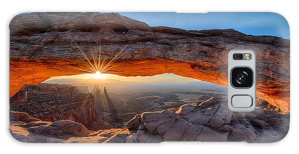 View Through The Mesa Arch At  Sunrise Galaxy Case
