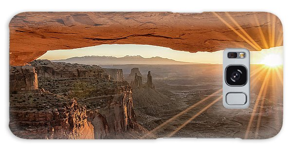 Mesa Arch Sunrise 4 - Canyonlands National Park - Moab Utah Galaxy Case