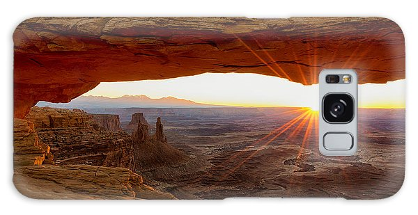Horizontal Galaxy Case - Mesa Arch Sunrise - Canyonlands National Park - Moab Utah by Brian Harig