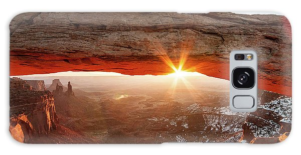 Galaxy Case featuring the photograph Mesa Arch by Wesley Aston