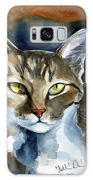 Mesmerizing Eyes - Tabby Cat Painting Galaxy Case
