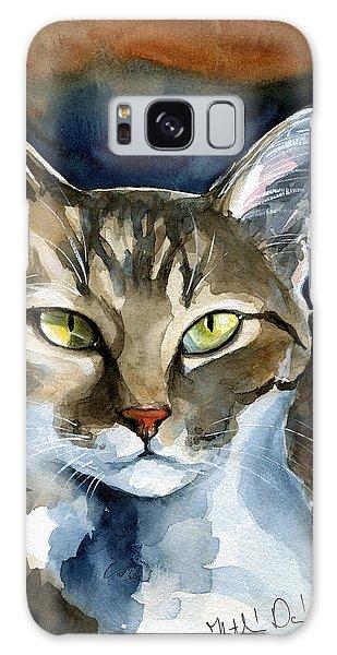 Mesmerizing Eyes - Tabby Cat Painting Galaxy Case