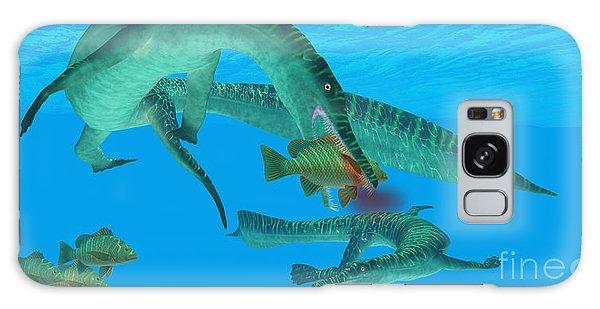 Mangrove Snapper Galaxy Case - Mesosaurus Marine Reptile by Corey Ford