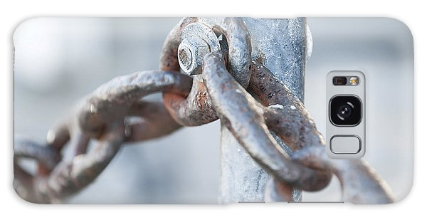 Rusty Chain Galaxy Case - Metal Chain Railing Fragment by Elena Elisseeva