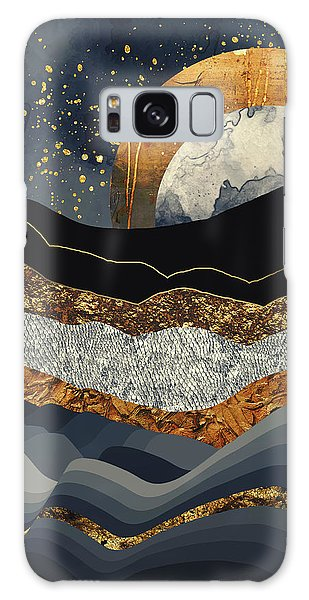 Landscapes Galaxy Case - Metallic Mountains by Katherine Smit