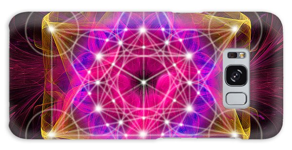 Metatron's Cube With Flower Of Life Galaxy Case