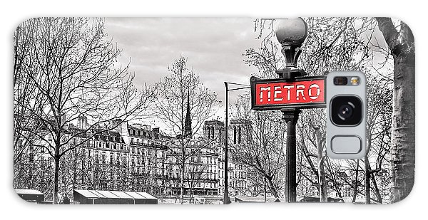 Notre Dame Galaxy Case - Metro Pont Marie by Delphimages Photo Creations