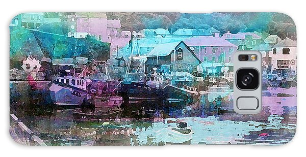 Mevagissey Harbour Galaxy Case