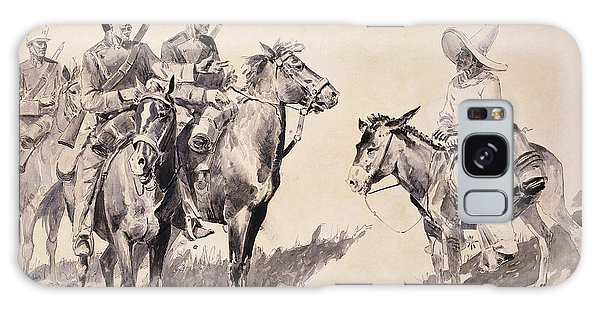 Mexican Galaxy Case - Mexican Gendarmes Asking The Way by Frederic Remington