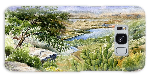 Mexican Landscape Watercolor Galaxy Case