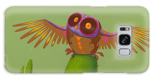 Mexico Galaxy Case - Mexican Owl by Jasper Oostland
