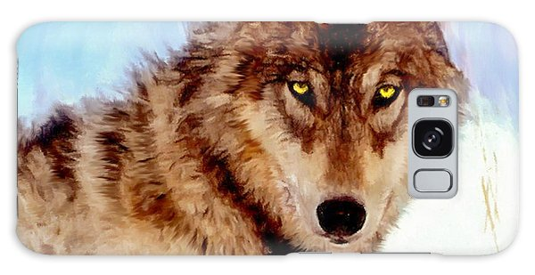 Mexican Wolf Painting Galaxy Case
