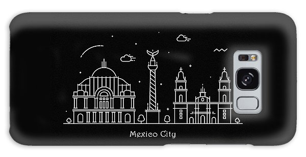 Mexican Galaxy Case - Mexico City Skyline Travel Poster by Inspirowl Design