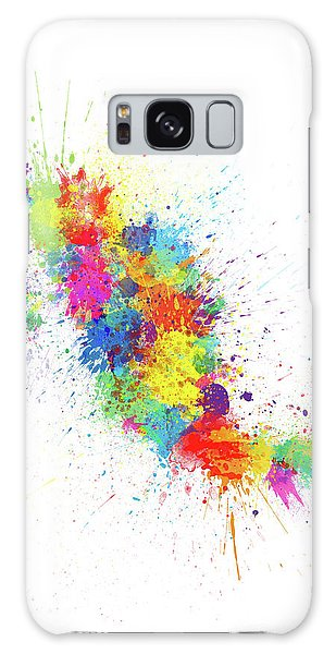 Mexico Galaxy Case - Mexico Paint Splashes Map by Michael Tompsett