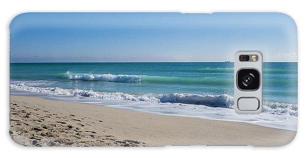 Miami Beach Blue Sky Blue Ocean Galaxy Case