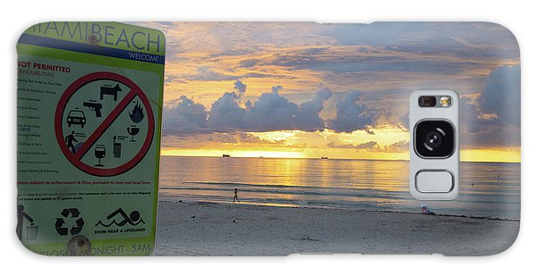 Miami Beach Sunrise Galaxy Case