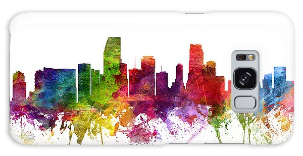 Colours Galaxy Case - Miami Cityscape 06 by Aged Pixel