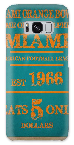Miami Dolphins Sign Galaxy S8 Case