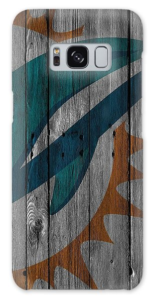 Miami Dolphins Wood Fence Galaxy Case