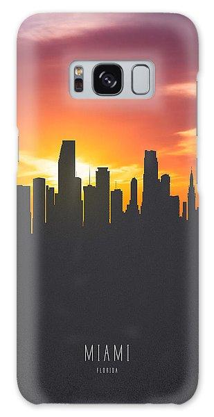 Miami Florida Sunset Skyline 01 Galaxy Case