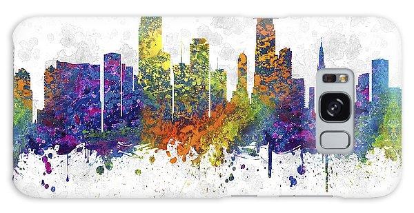 Miami Florida Skyline Color 03sq Galaxy Case