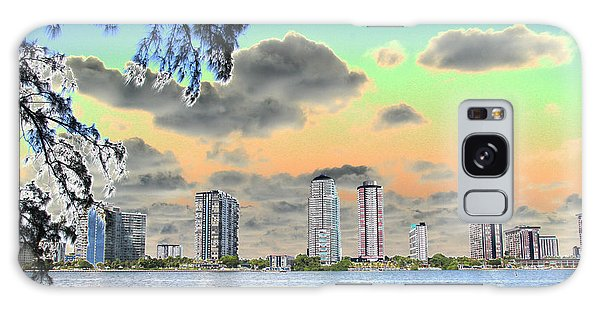 Miami Skyline Abstract Galaxy Case