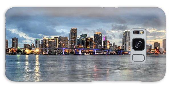 Miami Skyline At Dusk Galaxy Case