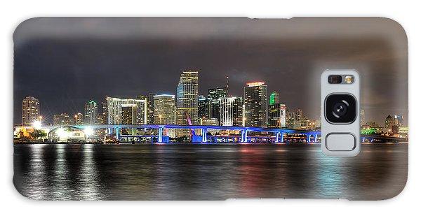 Miami Skyline At Night Galaxy Case