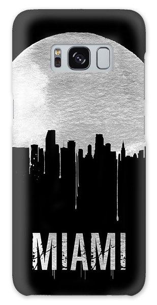 Miami Skyline Black Galaxy Case