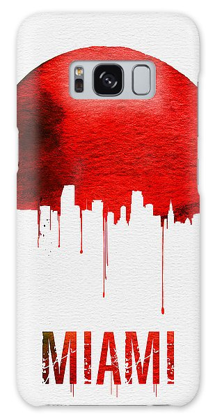 Florida Galaxy Case - Miami Skyline Red by Naxart Studio