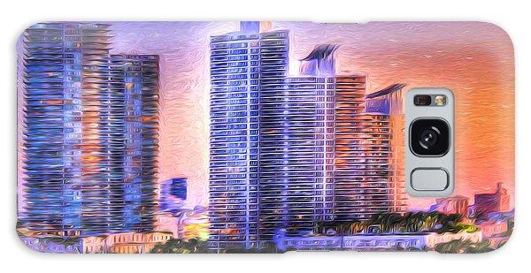 Miami Skyline Sunrise Galaxy Case