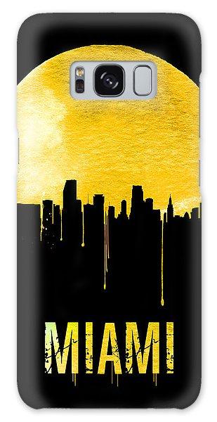 Miami Skyline Yellow Galaxy Case