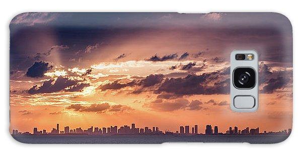 Miami Sunset Pano Galaxy Case