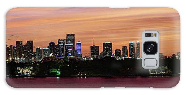 Miami Sunset Panorama Galaxy Case by Gary Dean Mercer Clark