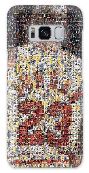 Michael Jordan Card Mosaic 2 Galaxy Case by Paul Van Scott