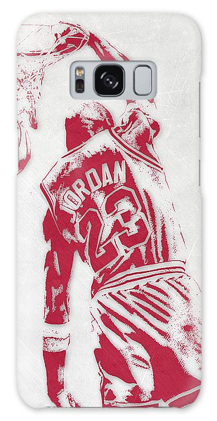 Michael Jordan Chicago Bulls Pixel Art 1 Galaxy Case