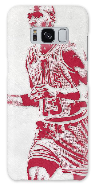 Michael Jordan Chicago Bulls Pixel Art 2 Galaxy Case
