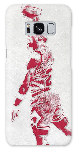 Michael Jordan Chicago Bulls Pixel Art 3 Galaxy Case